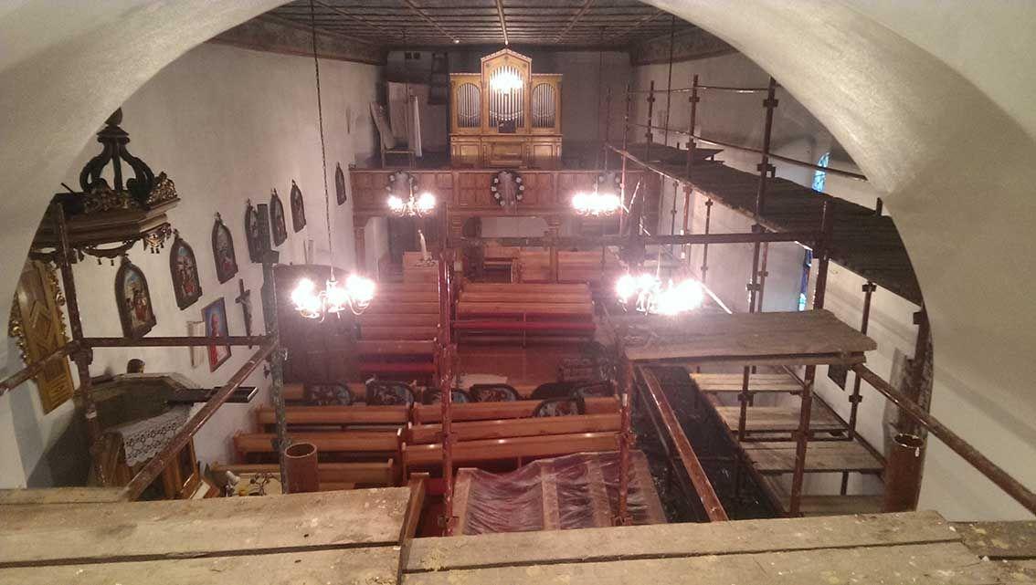 Prace malarskie w Kościele św. Andrzeja